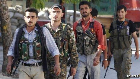 Popular Protection Units (YPG) fighters in Aleppo (20 June 2013)