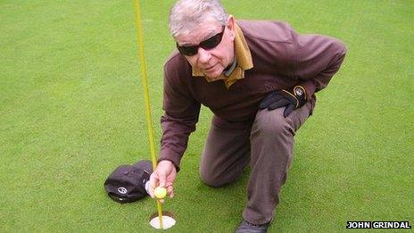 Jim O'Brien at golf course