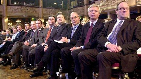 Tory shadow cabinet in 2001