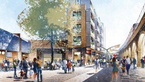 Projected image of Shepherd's Bush Market
