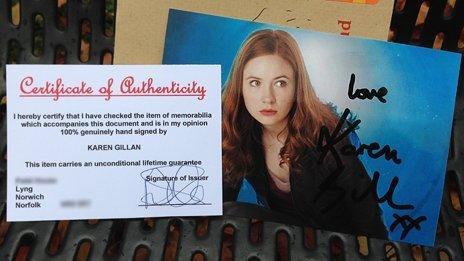 Signed photograph of Karen Gillan