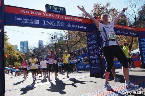 New York City marathon finishing line