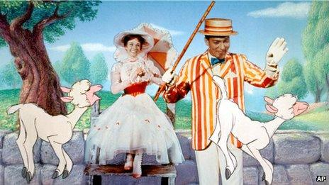 A scene from Mary Poppins