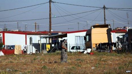 Roma settlement at Farsala Greece (22 Oct 2013)