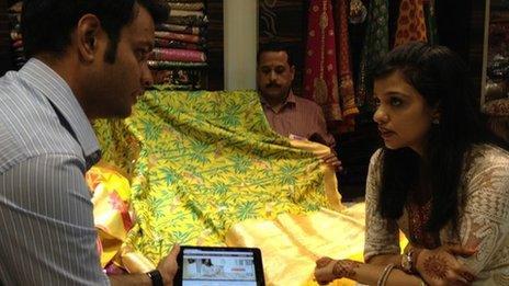 Abhishek Jain of MyShaadi.in with Heena Malhotra of Chhabra 555