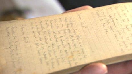 Harry Drinkwater's diary