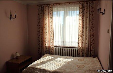 Sunlight through net curtains