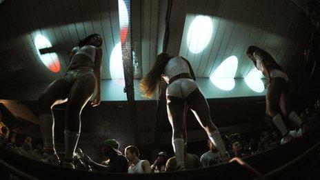 Brazilian funk dancers