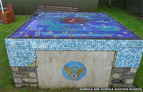 Rescued remains of a more elaborate pool/rockery memorial from Norwich Library, with mineral from each state in the US