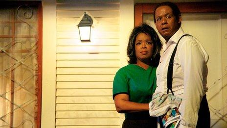Oprah Winfrey with Forest Whitaker in The Butler