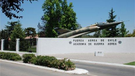 Entrance to the Academy of Aerial Warfare in Santiago