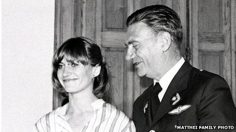 Evelyn Matthei and her father at her graduation in 1979