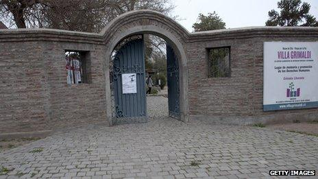 The entrance of Villa Grimaldi, which was used as a detention and torture centre during the dictatorship of Augusto Pinochet. Picture from 30 August 30, 2013.