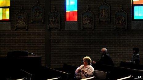 Catholics in a US church