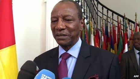 Guinea President Alpha Conde in Paris. 12 June 2013