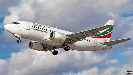 2011 photo taken of the Boeing 737 that crashed near Kazan on 17 November 2013