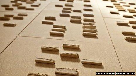 Chatsworth House DNA tile. Pic: Chatsworth House Trust