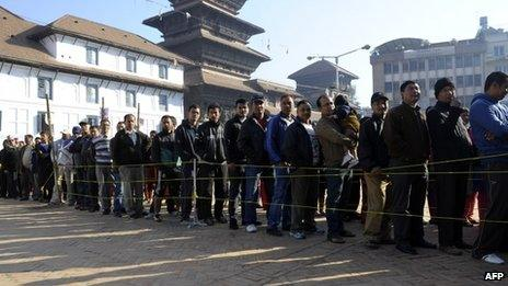 Voters in Nepal (19 November 2013)