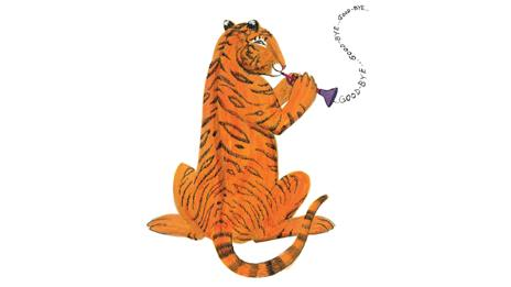 The tiger says goodbye