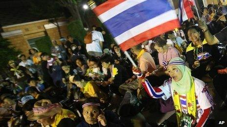 Protesters in Bangkok, 25 Nov