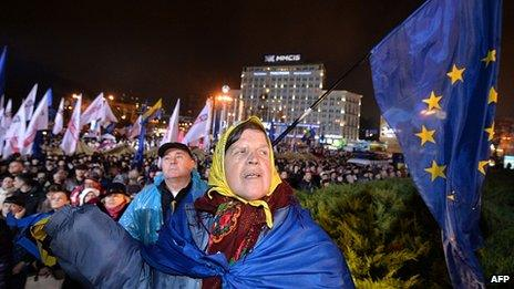 Protesters attend opposition rally at European Square in Kiev. 25 Nov 29013