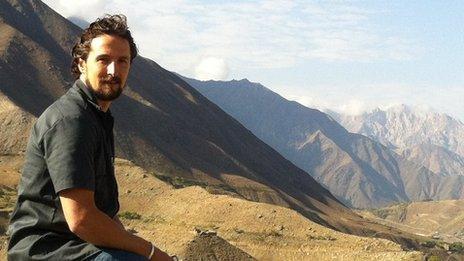 Matthew Griffin in Afghanistan