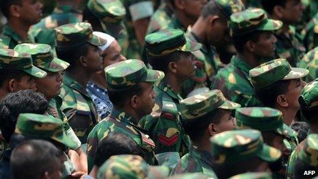 Bangladesh army personnel (May 2013)
