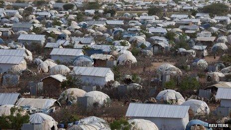 Dadaab refugee camp, Kenya (file image)