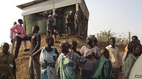 UNMISS camp in Juba, 18 Dec