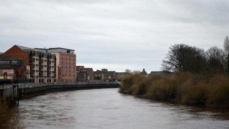 River Trent in Gainsborough