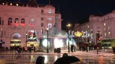 Eros Globe Piccadilly Circus