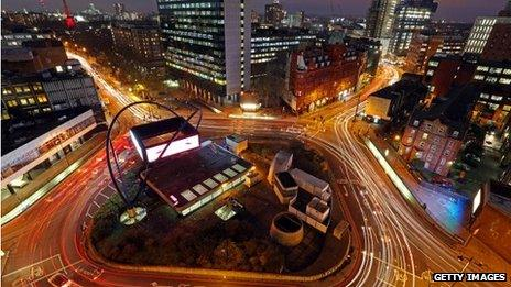 Silicon Roundabout - Old Street in London