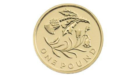 New pound coin celebrating the floral emblems of Scotland