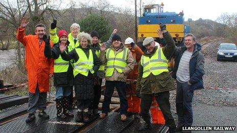 Llangollen Railway volunteers