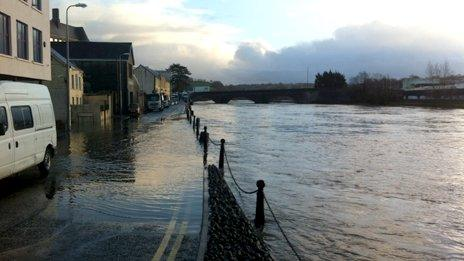 River Towy in Carmarthen