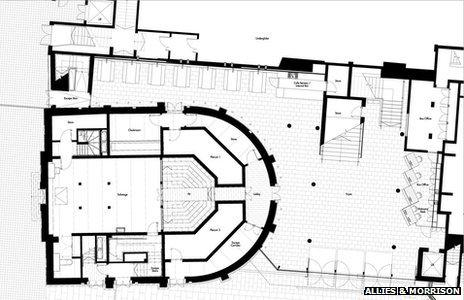 Architect drawing of the theatre