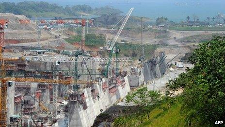 Panama Canal expansion work