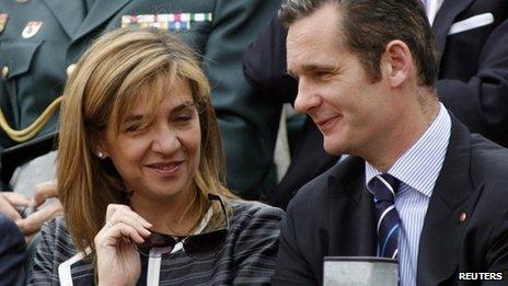 Princess Cristina and her husband Inaki Urdangarin in 2007