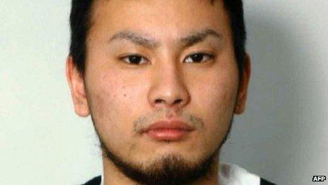 Handout picture of wanted rape suspect Yuta Sugimoto