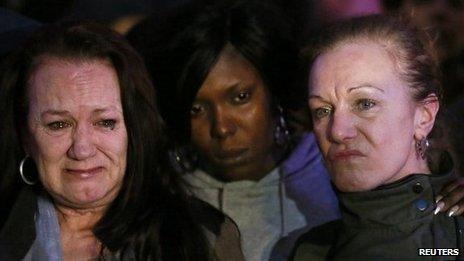 Mark Duggan's mother Pamela (left) and aunt Carole outside court