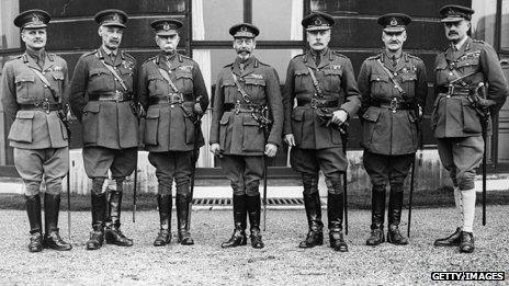 George V and his generals, Buckingham Palace 1918