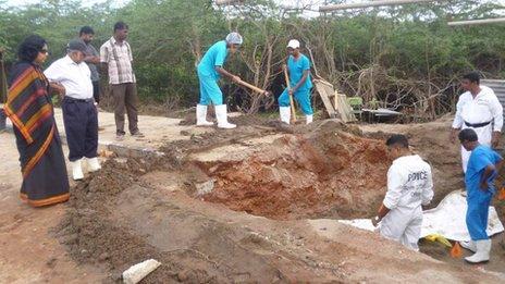Excavators in Sri Lanka