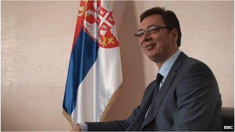 Deputy Prime Minister and leader of the Progressive Party, Aleksandar Vucic.