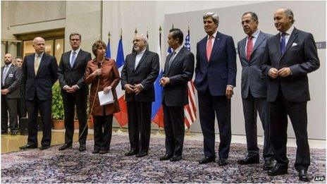 Representatives of Iran, the EU and P5+1 in Geneva (24 November 2013)