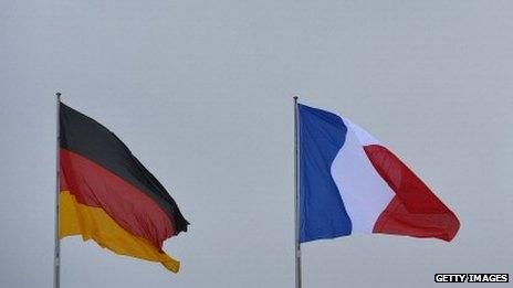 German and French flags