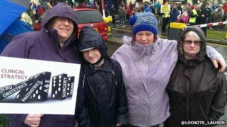 Families joined the protest