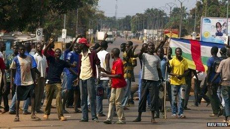 Mob in Bangui