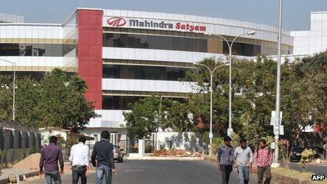Mahindra Satyam building in Hyderabad