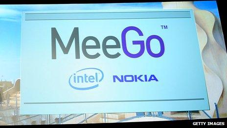 A sign of the operating system MeeGo