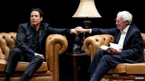 John Travolta with Barry Norman